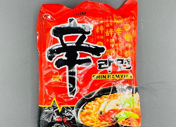 辛拉面120g Nongshim Shim Instant Noodle Shin Hot & Spicy