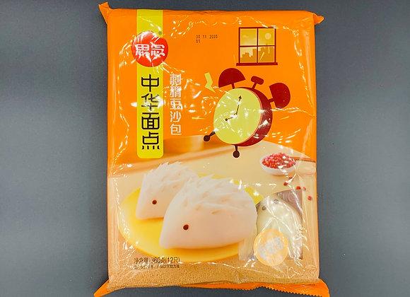 思念刺猬豆沙包360g