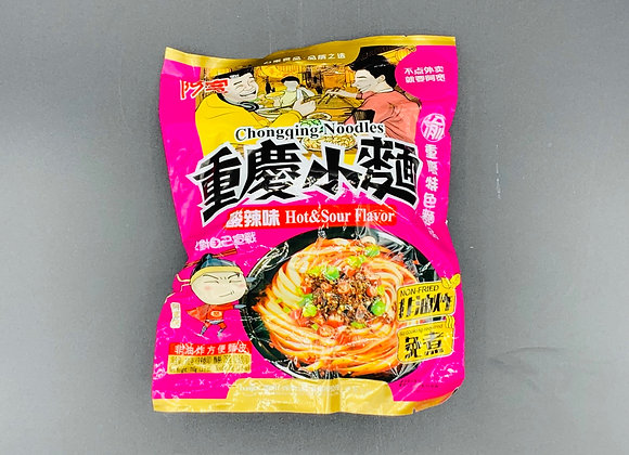 阿宽重庆小面-酸辣110g BJ Chongqing Noodles-Hot & Sour