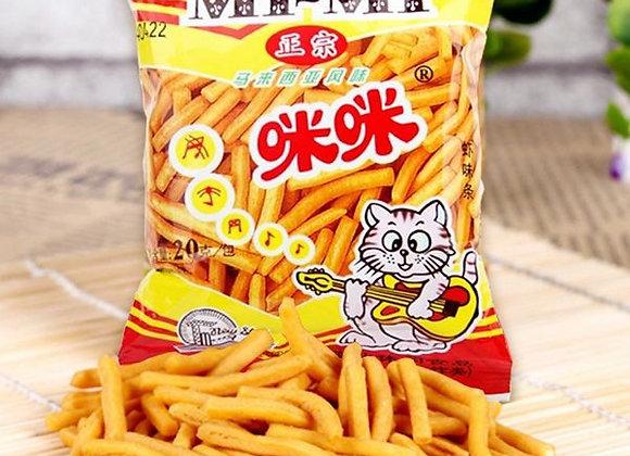 咪咪虾条20g (单包)MM Prawn Flavoured Snacks