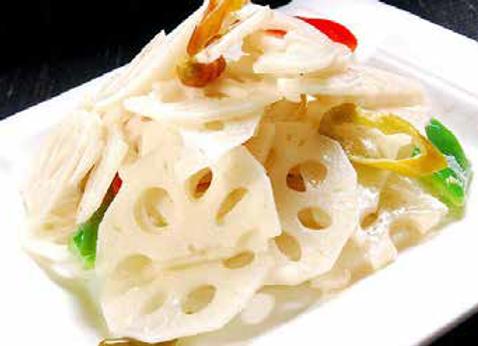 炒藕片 Stir Fried Lotus Roots Slices