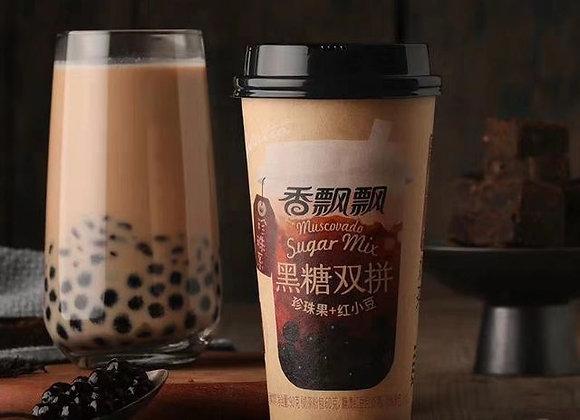 香飘飘黑糖双拼奶茶 90g XPP Boba Tea(Black Sugar Mix)