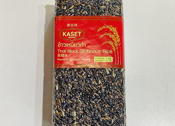 泰吉祥黑糯米 1kg Kaset Thai Black Glutinous Rice