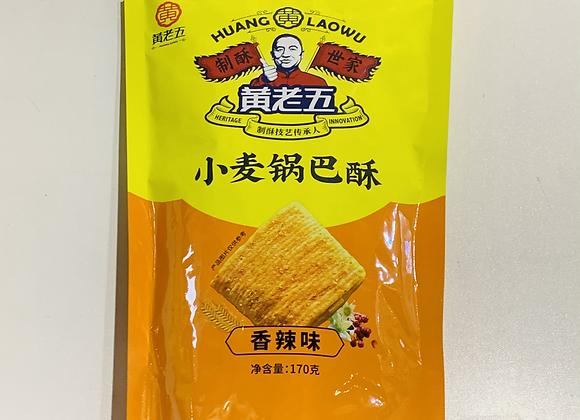 黄老五小麦锅巴酥-香辣味170g HLW Brand Spicy Cracker