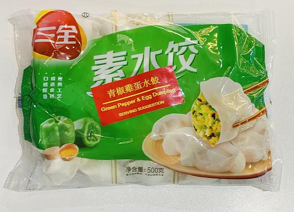 三全水饺-青椒鸡蛋 500g SQ Green Pepper & Egg Dumpling