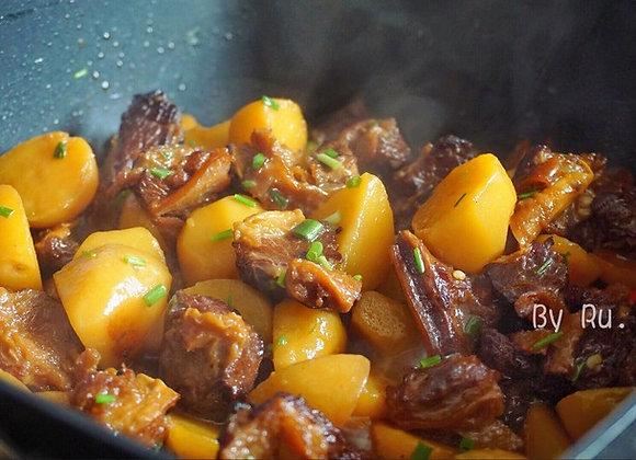 土豆烧牛腩 Steamed Beef Belly Cooked with Potatoes