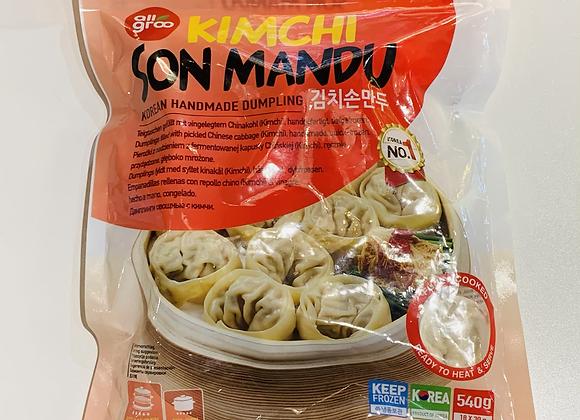 韩国泡菜煎饺 540g Allgroo Kimchi Son Mandu(Handmade Dumpling)