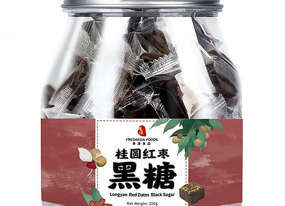 香源桂圆红枣黑糖 200g Freshasia Longyan Red Dates Black Sugar