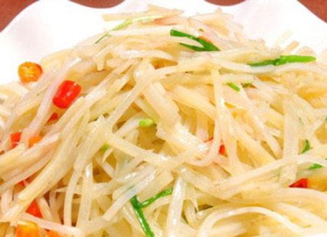 凉拌土豆丝 Cold Shredded Potato with Chili & Garlic
