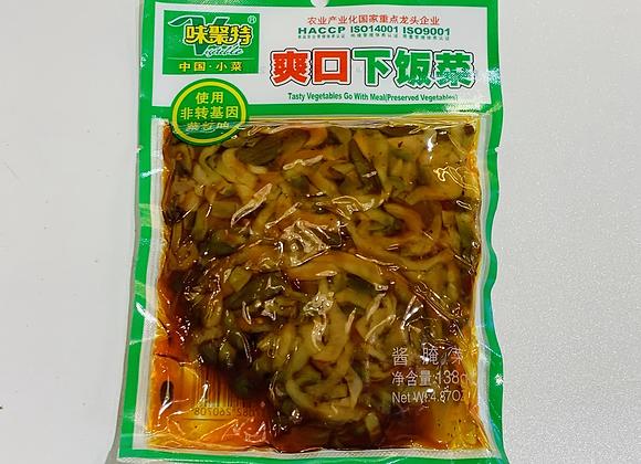 味聚特爽口下饭菜 138g WJT Tasty Vegetable Go with Meal(Preserved Vegetables)