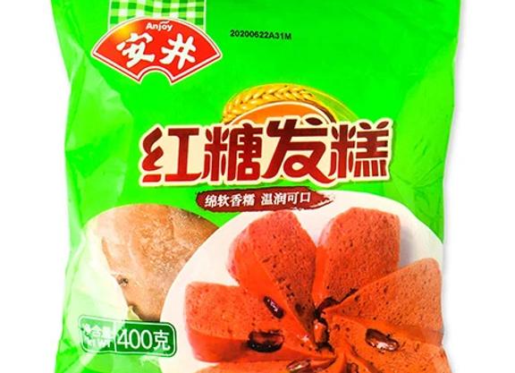 安井红糖发糕400g Anjoy Brown Sugar Sponge Cake