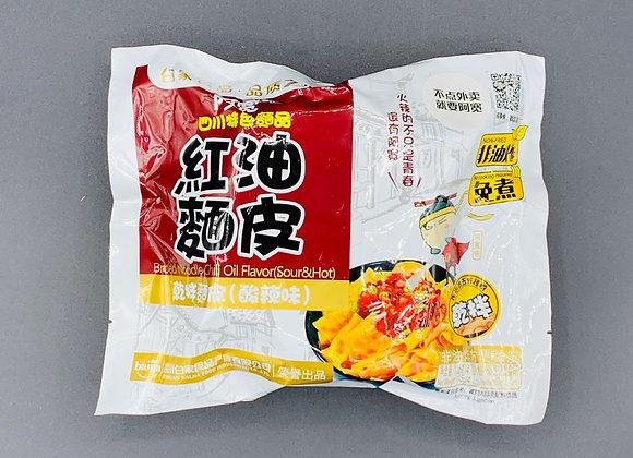 阿宽红油面皮-酸辣115g BJ Broad Noodles -Sour & Hot