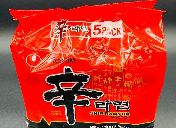 农心辛拉面 5×120g Nongshim Shin Ramyun