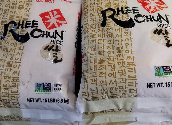 韩国立川大米 15LB(6.8kg)Rhee Chun Rice