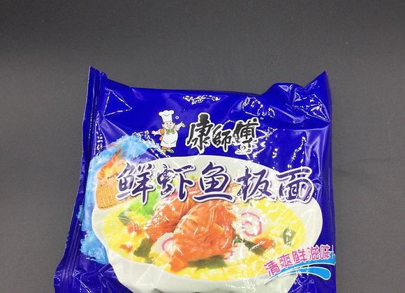 康师傅鲜虾鱼板面98g KSF Instant Noodles- Artificial Fish Flavour