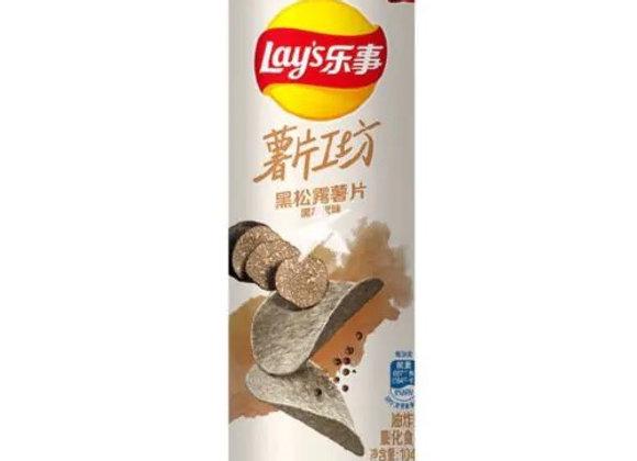 乐事黑松薯片-黑胡椒味 104g Lays Crisps-Black Pepper Flavour