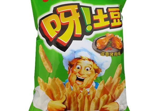 好丽友-呀!土豆-滋香烤鸡味 70g HLY Potato Chips-Roast Chicken Flavour
