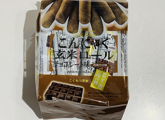 北田蒟蒻糙米捲-巧克力 160g PT Konjac Brown Rice Roll-Chocolate