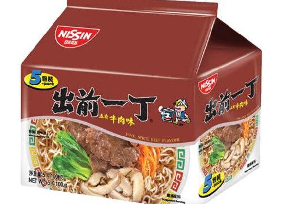 出前一丁方便面-五香牛肉味 5×100g Nissin Demae Ramen(5packs)- Five Spicy Beef