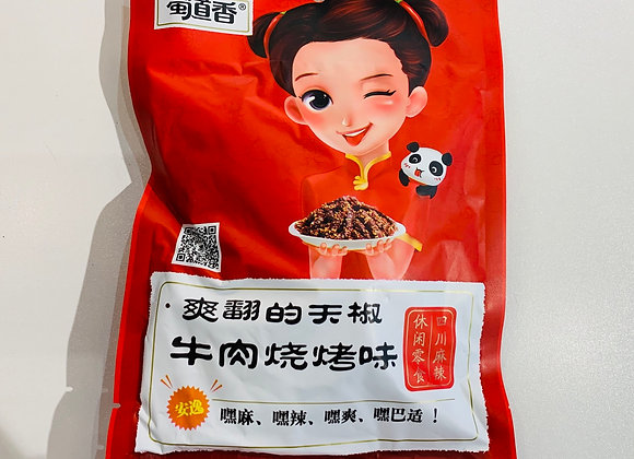蜀道香天椒牛肉烧烤味 100g SDX Hot & Spicy Beef Jerky Barbecue Flavour