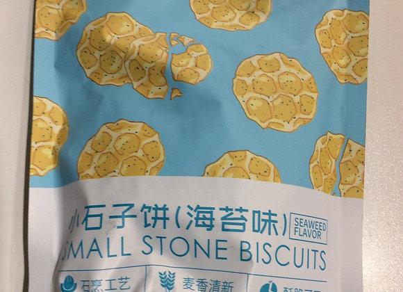 红谷林小石子饼-海苔味 100g Honggulin Small Biscuits-Seaweed Flavour