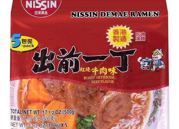 出前一丁方便面-红烧牛肉味 5×100g Nissin Demae Ramen(5packs)- Roast Beef