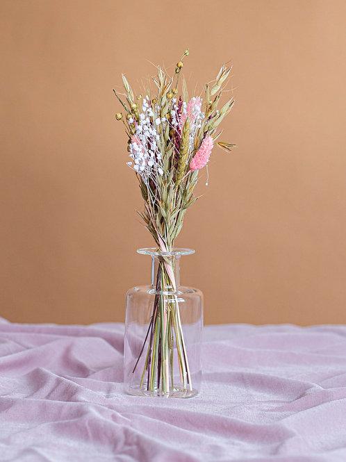 Duo bouquet Lola et son vase en verre
