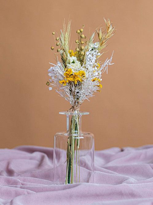 Duo bouquet Léo et son vase en verre