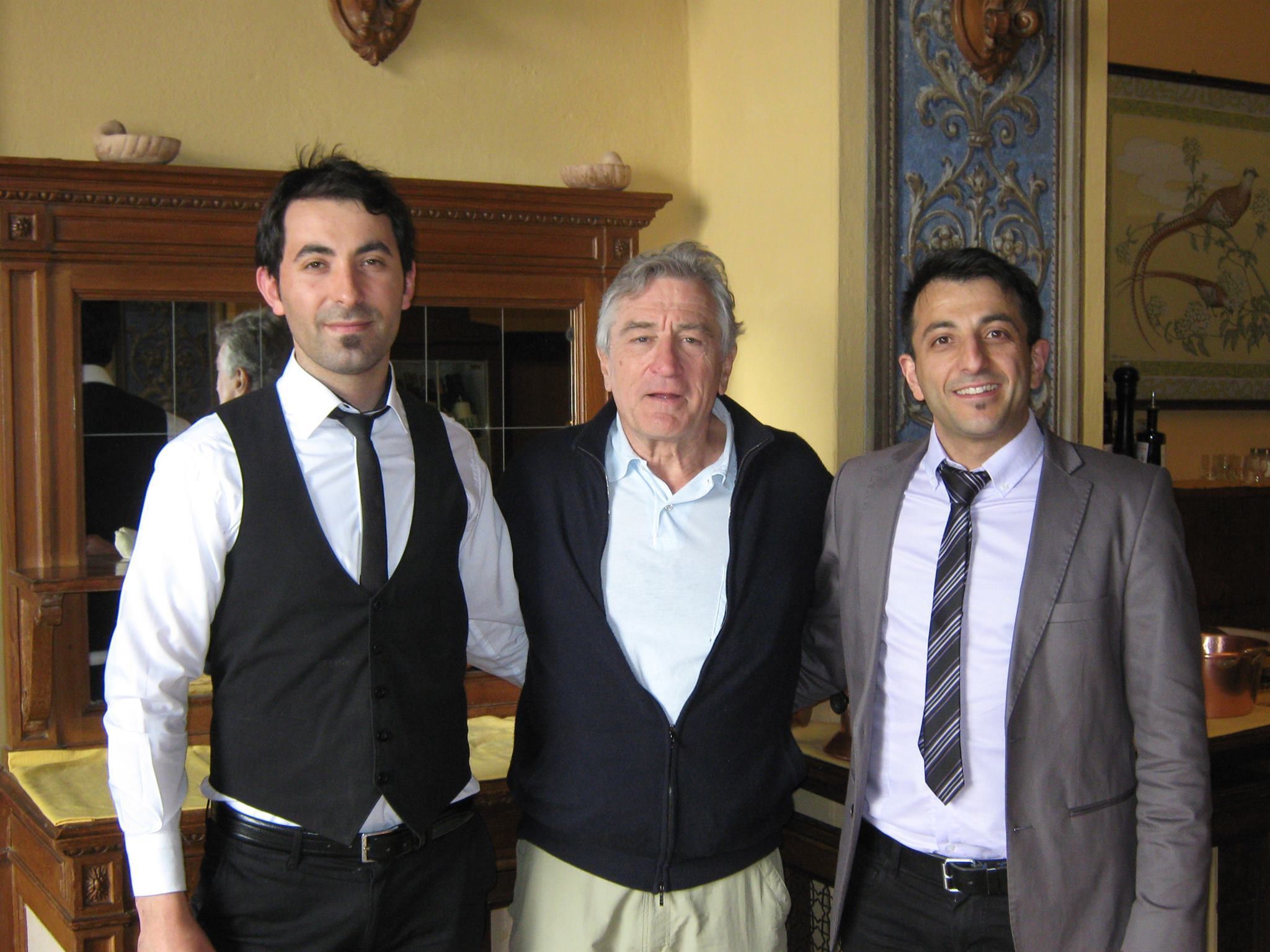 Robert De Niro all'Hotel Vapore