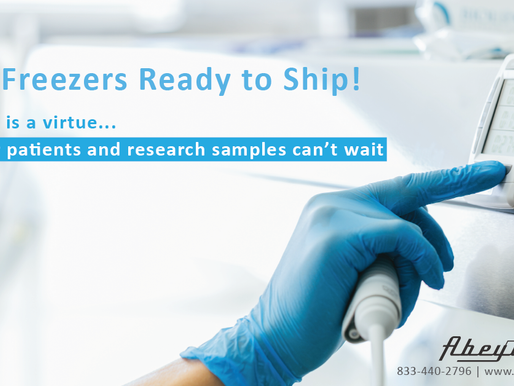 Cryo Freezers Ready to Ship!