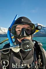Roderick Sloan in diving gear
