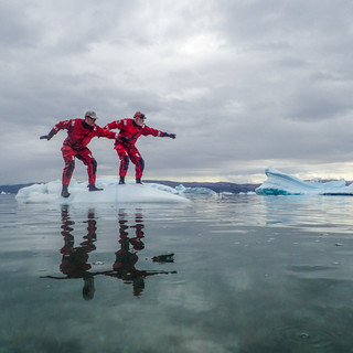 Pata & Tommi surfing Greenland style
