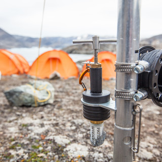 The polar bear alarm we fixed around the tents every night