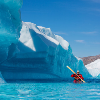 Tommi in an ice lagoon