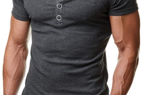 T-Shirt Rundhals Knopfleiste Body Fit