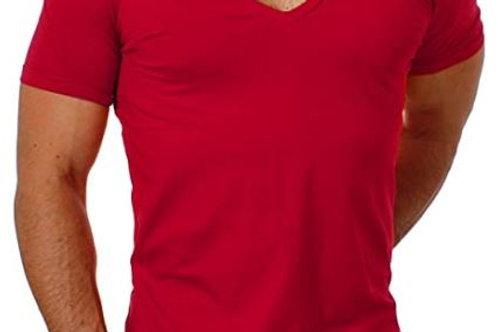 T-Shirt mit extra tiefem V-Ausschnitt