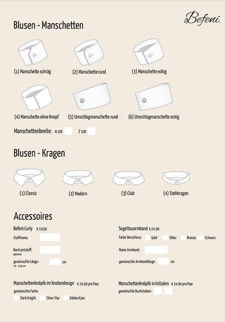 Blusen-Manschetten Massmode Team
