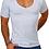 Thumbnail: T-Shirt mit extra tiefem V-Ausschnitt