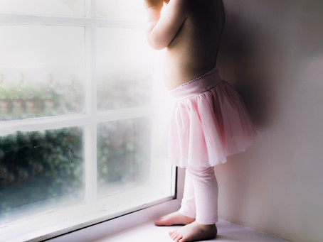Ballerina and a north-facing window - Abu Dhabi Family Photographer