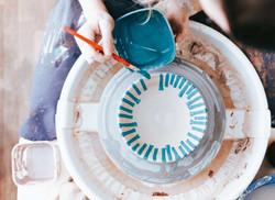 Preciosas vajillas de porcelana pintadas a mano. Vajillas únicas y especiales.