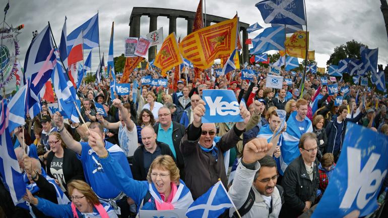 One of the many SNP rallies in Scotland.