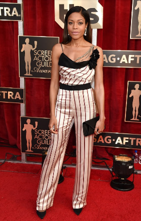 Naomie Harris in a Lanvin jumpsuit.