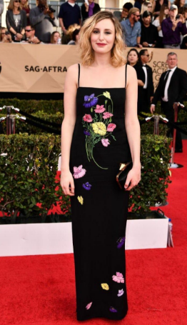 Lucy Carmichael in a Christopher Kane gown.