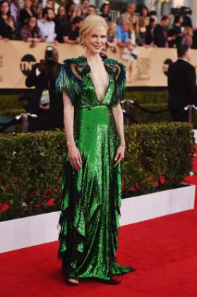 Nicole Kidman in a Gucci gown.