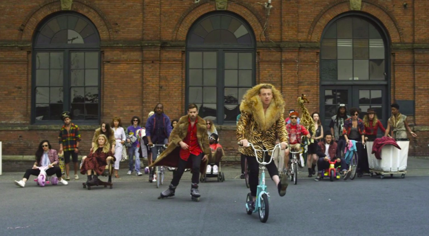 "Macklemore's music video of his song ""Thrift Shop"""