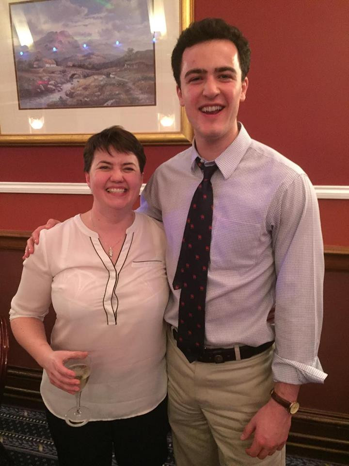 J.P. with his boss, Ruth Davidson MSP.