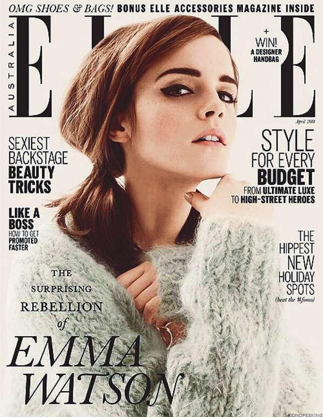 Emma Watson on th cover of Australia's Elle.