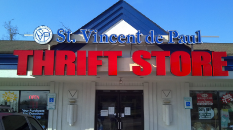 A store-front of a St. Vincent de Paul thrift store