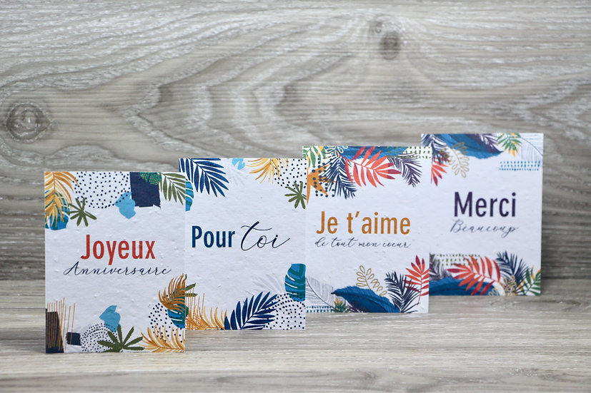 4 mini cartes à semer | Tropical