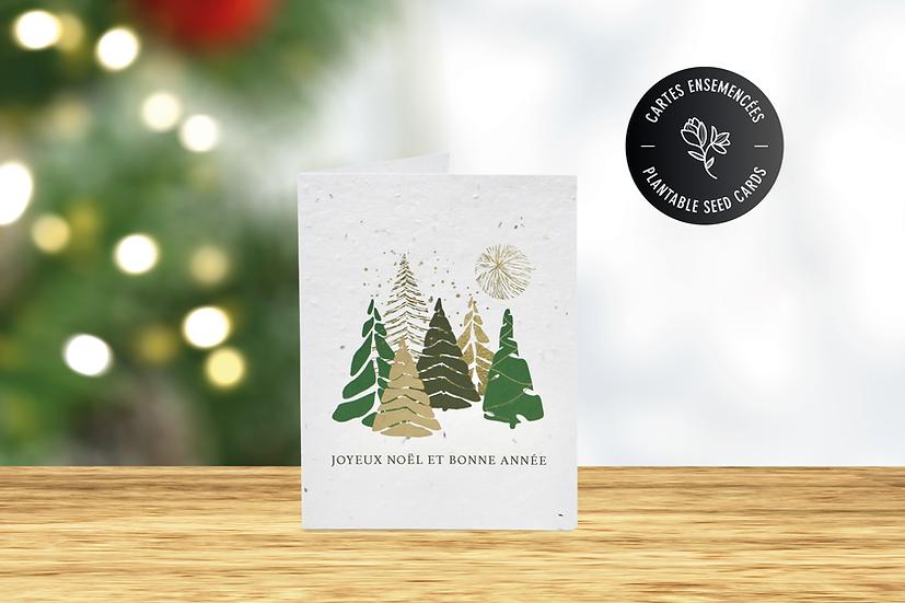 Carte de Noël à semer | Papier ensemencé
